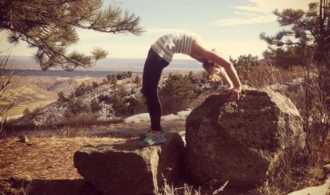 Aneta beim Kripalu Yoga